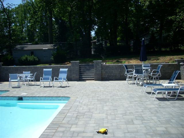 Paver Patio with Retaining Wall Souderton PA