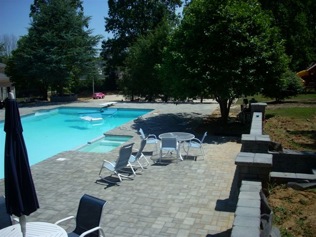 Garden Brick Walls Landscaping with Pool