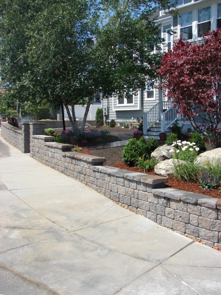 Stone Wall Pavers Garden City After - Souderton PA