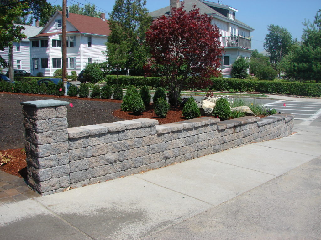 Block Wall Retaining Wall Garden City After - Souderton PA