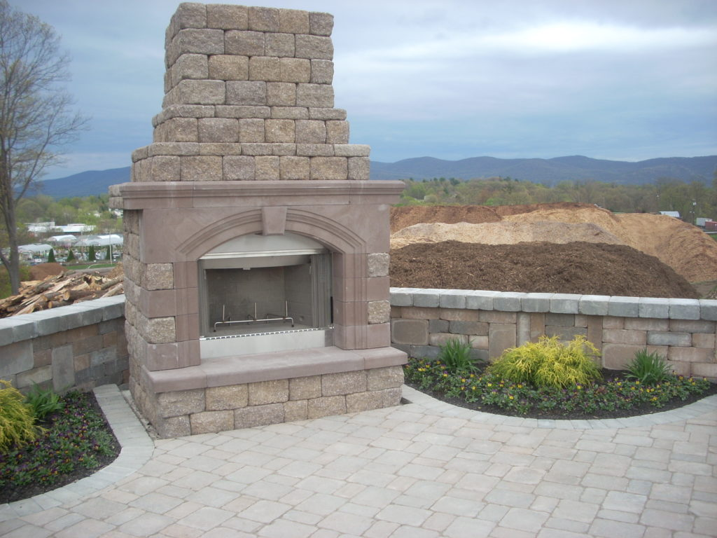 Stone Over Brick Fireplace Souderton PA