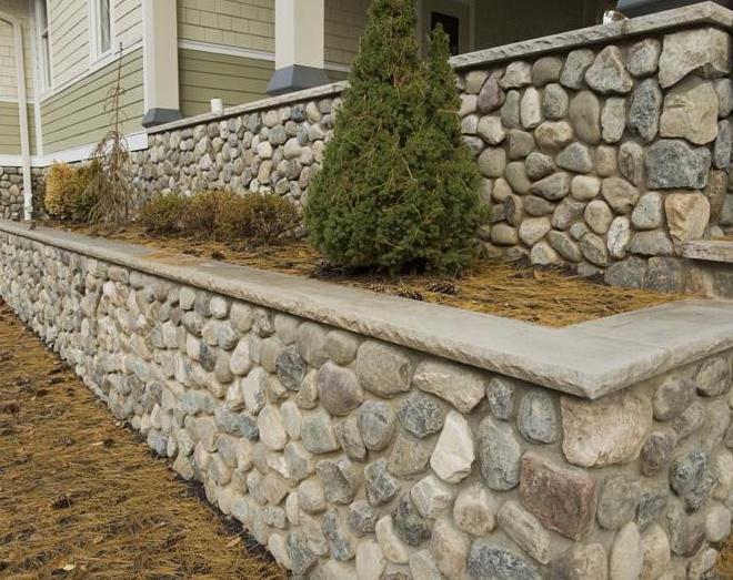 River Rock Wall design Souderton PA