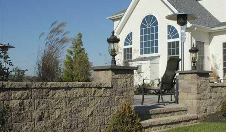 Large Rock Retaining Wall Souderton PA